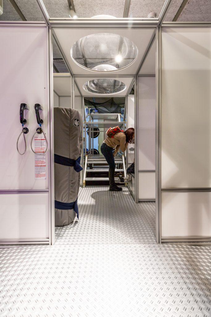 """Zwiedzając wystawę """"Podróżowanie w kosmosie"""", będzie można obejrzeć wnętrze stacji kosmicznej. Foto Museon, materiały prasowe"""