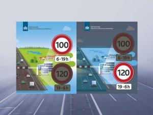 Ograniczenie maksymalnej prędkości w Holandii. Foto: Moja Limburgia na podstawie Rijkswaterstaat
